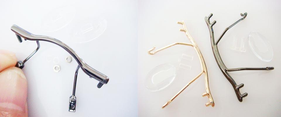 stainless steel bridges for eyeglass