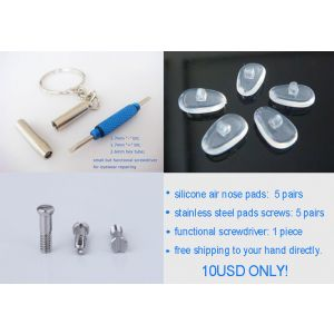 free shipping air active nose pads with screws and screwdrivers