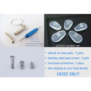 12mm screw on air active nose pads with screws and screwdriver 5 pairs pack