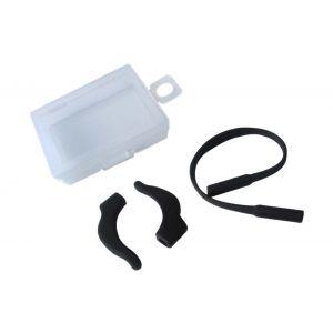 silicone black ear hook and ropes,anti eyewear slipping off nose