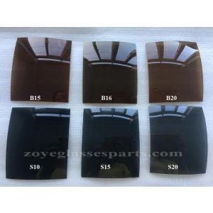 light median dark brown and smoke polarized lenses UV400 65*55cm 4 base 1.0mm thickness for sunglasses