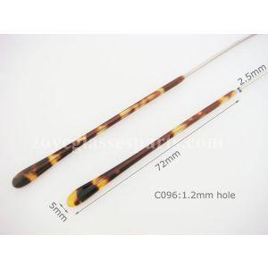 slim eyeglass temple tips demo 1.2mm hole 72mm length
