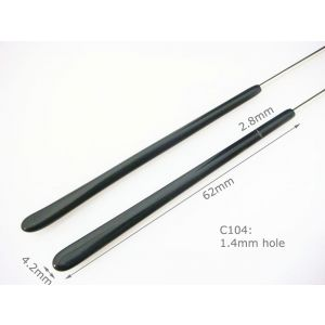 black eyeglass temple tips arm cover 62mm 1.4mm hole thin temple tips