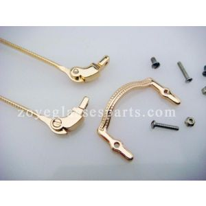 parts for making your own eyeglass frame, gold temple and bridges