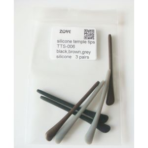 silicone temple tips black brown grey for replacement round hole 1.2mm -1.6mm square holes