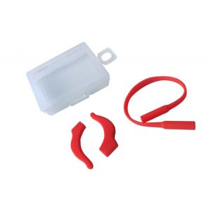 solid red ear hook and ropes