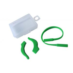 soft solid green silicone ear hooks and ropes