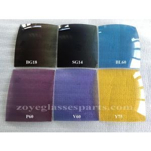 gradual smoke brown polarized lens 55*65cm UV400 FDA for sunglasses