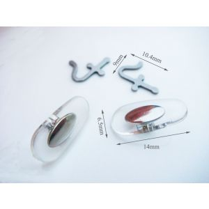 stainless steel pad arms compatible with rayban frames 13mm nose pads