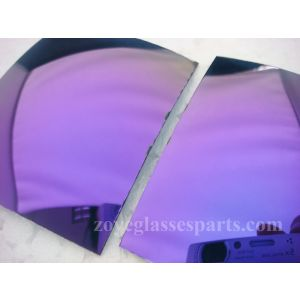 revo purple polarized lenses 1.0mm thickness for sunglasses TAC material FDA certificate pass dropping ball test 55*65cm size