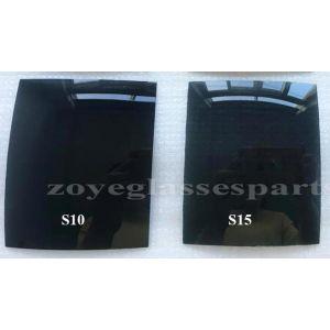 smoke grey polarized lenses for sunglasses TAC 55*65mm