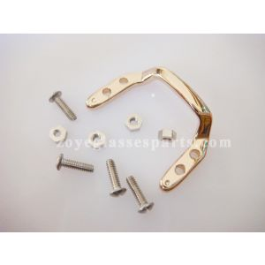 spectacle bridge for wood plastic frame with screws and nuts gold color