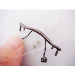 gun bridges for optical frame with silicone nose pads  TB-176