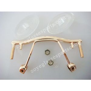 bridges with pad arms together,gold color with nose pads TB-176