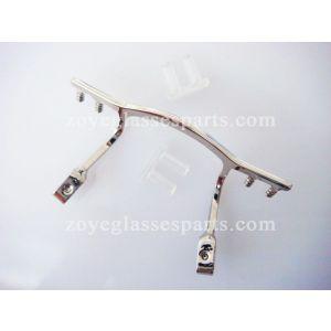 eyeglass bridge repair part for rimless frame TB-298 silver