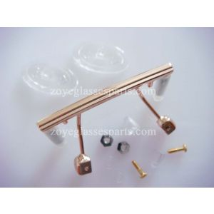 screw on nose bridges gold for  rimless optical frame TB-886 with nose pads
