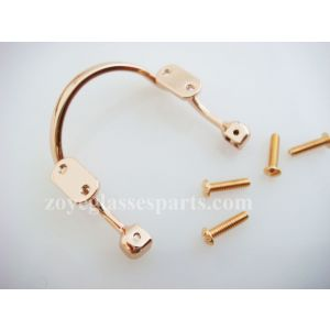 great eyeglass bridges for plastic or wood eyeglass frame,screw on silver gold color available