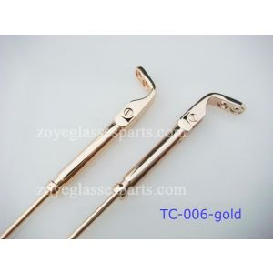spring hinged arms for nylon metal frame TC-006-gold