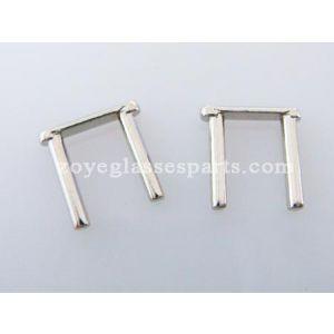 double rivets for mounting hinge onto frames TDV-04 silver color