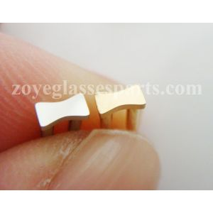 double riveting pins, plaques,shields for sunglasses frame 6mm length silver gold colors