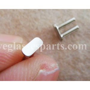 super quality rivet plaque for sunglass frame 6.0mm width stainless steel