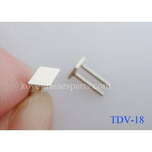 7.5mm height diamond eyeglass plaques for sunglass frame stainless steel