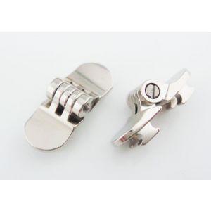 hidden hinge for plastic eyewear frame, 6.0mm width round hinge 5 barrels