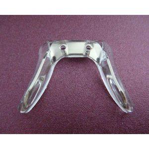 comfortable adjustable silicone eyeglass nose bridge silver color