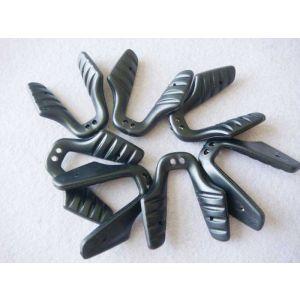 black soft vinyl eyeglass bridge  TN-608 black
