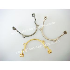 silver and old color nose bridge with bracket for fashion sunglasses,screwed on