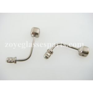 heat mounting nose pad arms for plastic wood eyeglass