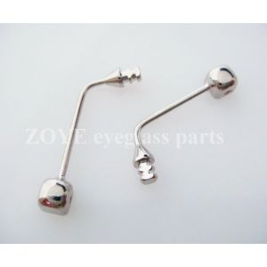 13.5mm stainless steel nose pad arms for plastic wood eyeglass frame melting in