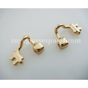 rose gold colored nose pad arm for plastic wood TR-90 eyeglass frames