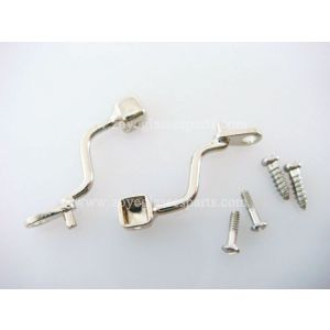 screw on bracket with nose pads for acetate frames TP-A292-1 silver