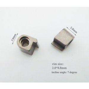 titanium rim locks 2.8mm length with 7 incline angle