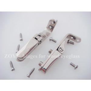 spring hinge for wood timber eyewear screwed on 3.8mm wide springs