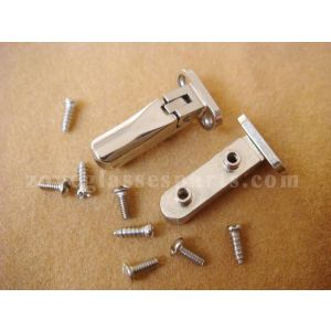 easily installed 3.8 spring hinge for wood plastic horn spectacle frame