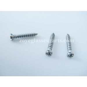 point end self-tapping screws for plastic eyewear frame 8.0mm length point ended