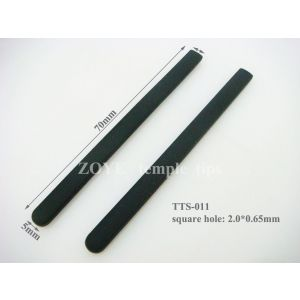 silicone temple tips 70mm square hole 2.0*0.65mm for eyeglass arms.