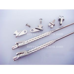 3.0mm hinged metal core in acetate sides for frames