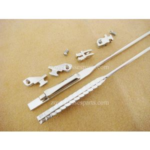 spring hinged metal wire for reinforcing plastic eyeglass sides