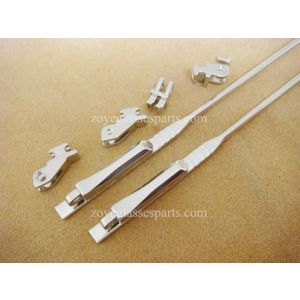 2.6mm spring hinged wire cores in acetate frame sides