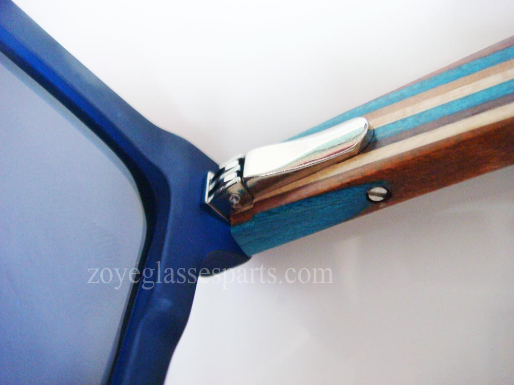 durable spring hinge part  for brand wood sunglasses