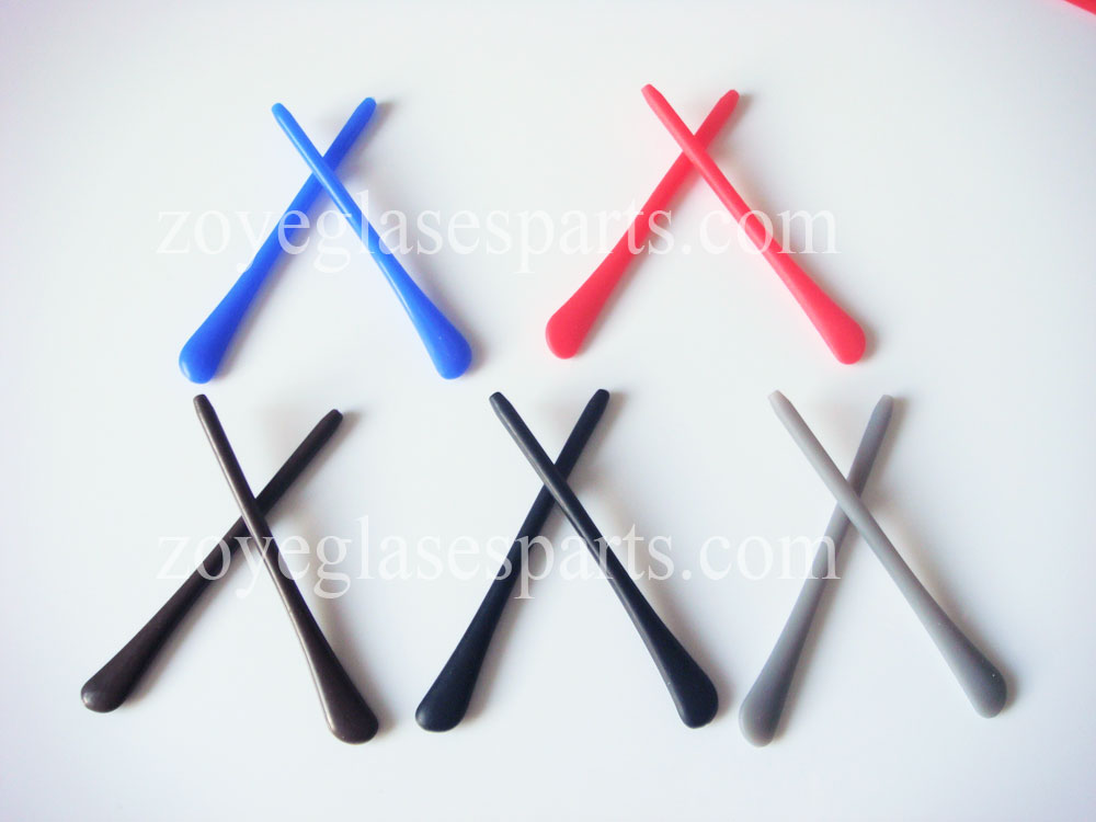 silicone temple tips 5 pairs pack in black blue brown blue red colors
