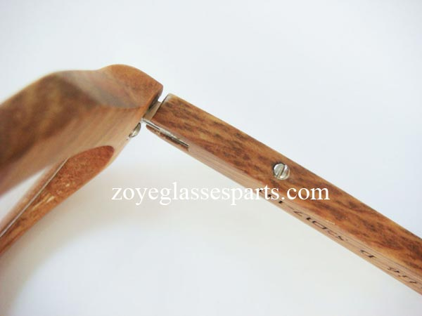how to install hinge onto wood bamboo horn eyeglass frame step 5