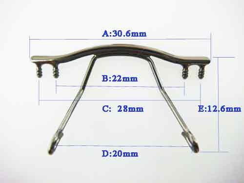 size of rimless bridge TB-179