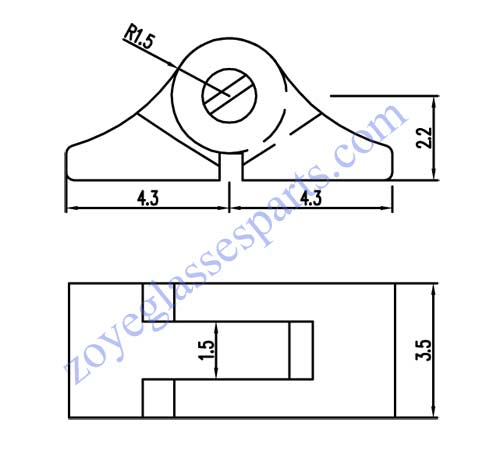 eyeglass hinge replacement for metal optical frame 3.5mm