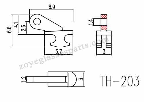 1.2mm single barrel hinge for plastic frames hinges repairing,replacement.