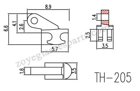 3.5mm wide round hinge with 1.6mm single barrel size,suitable for plastic frames hinges repairing.