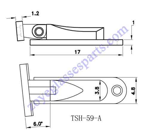 drawing of hinge TSH-59